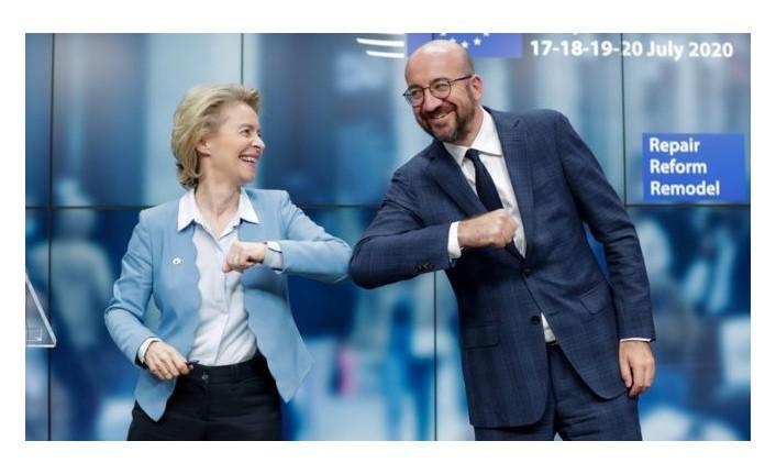 AB liderleri son 20 yılın en zorlu zirvesinde, 750 milyar euroluk koronavirüs kurtarma fonunda uzlaştı