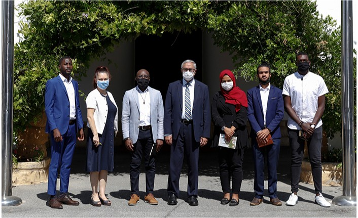 Akıncı Uluslararası Öğrenci Birliği VOIS'in Başkanı ACHIRI'yi kabul etti