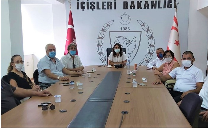 Baybars lefkoşa Muhtarlar Birliği'ni kabul etti