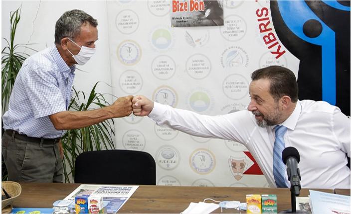 """Denktaş: """"Kıbrıs sourununda Ufku açık bir yaklaşımla hareket edeceğim"""""""