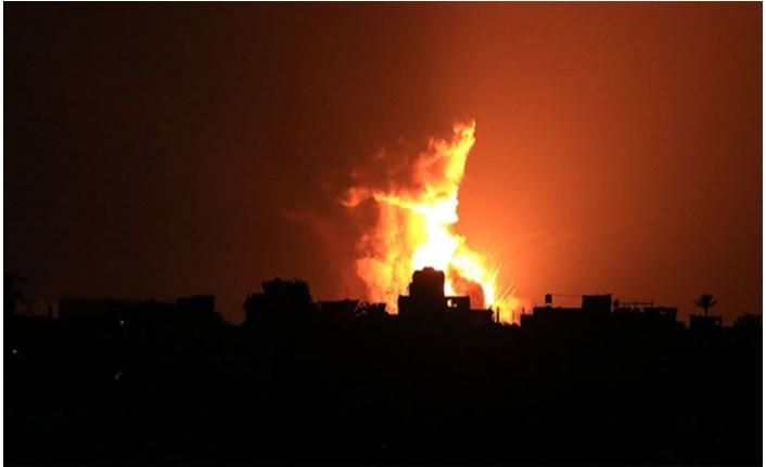 İsrail, Gazze'de hamas'a ait bir gözetleme noktası vurdu