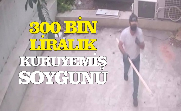 300 bin liralık kuru yemiş hırsızlığı