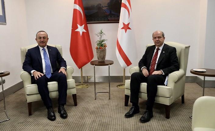 Cumhurbaşkanı Tatar, Türkiye Dışişleri Bakanı Çavuşoğlu'nu kabul etti