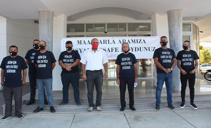 MAĞUSA TÜRK GENEL İŞ SENDİKASI, GAZİMAĞUSA BELEDİYESİ'NDE EYLEM YAPTI