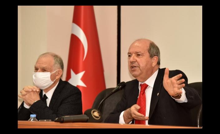 """TATAR: """"KIBRIS MESELESİNİN ÖZÜ BİR EGEMENLİK KAVGASIDIR"""""""