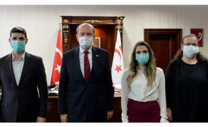 Tatar, Türk Kızılay Kuzey Kıbrıs Delegasyon Başkanlığı heyetini kabul etti