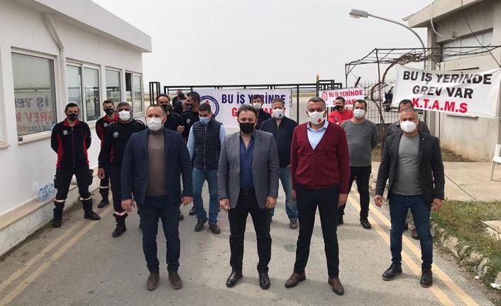 Ercan'da şok eylem… Sendika başkanları açıklamada bulundu