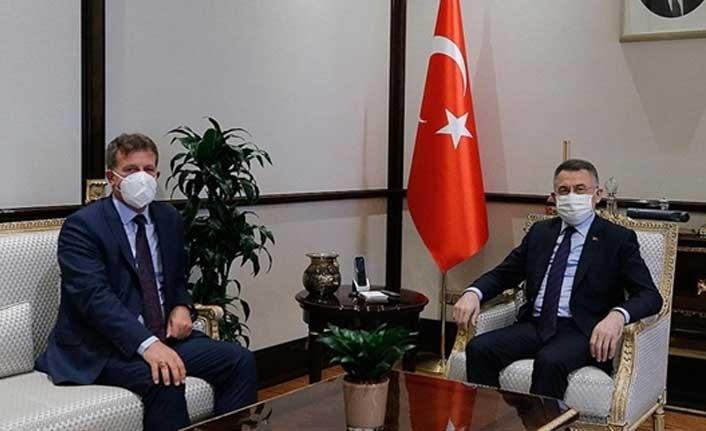 Fuat Oktay,Enerji ve Ekonomi Bakanı Erhan Arıklı'yı Kabul etti