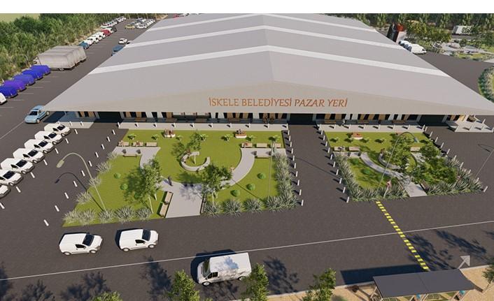 İskele Belediyesi Kapalı Pazar ve Terminal Alanı Projesinin Yapımı Başlıyor