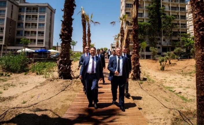 Başbakan Ersan Saner Kapalı Maraş'ta incelemelerde bulundu