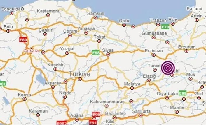 Bingöl'de 5,2 büyüklüğünde deprem meydana geldi