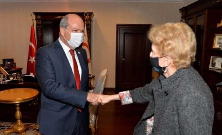 Cumhurbaşkanı Ersin Tatar Jane Holl Lute'la bir araya geldi