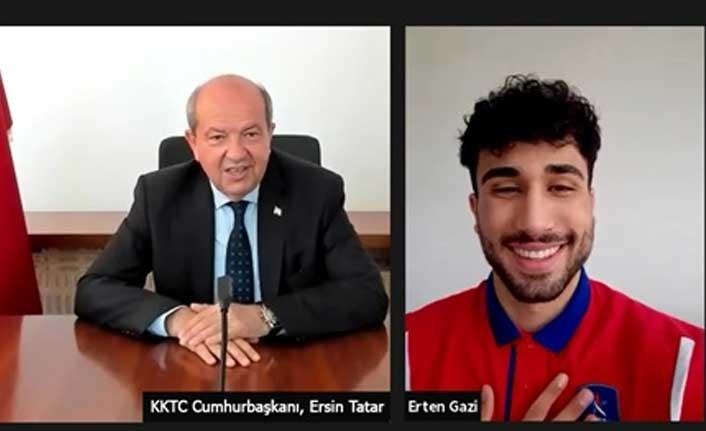 Cumhurbaşkanı Tatar, Erten Gazi ile Görüştü