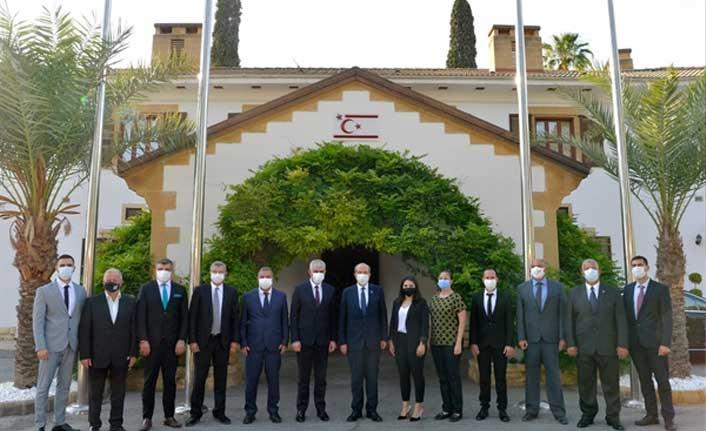 Cumhurbaşkanı Tatar, Sanayi Odası Başkanı Kamacıoğlu Ve Yönetim Kurulu Üyelerini Kabul Etti