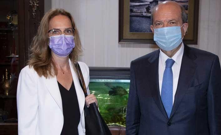 CumhurbaşkanıTatar, Fransa Büyükelçisi Salina Grenet-Catalano'yu kabul etti