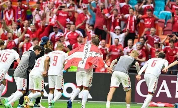 EURO 2020'de ilk çeyrek finalist Danimarka