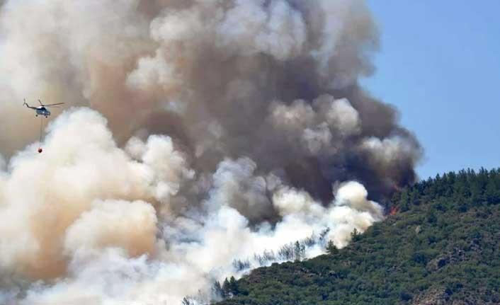 Marmaris'teki orman yangını kontrol altında