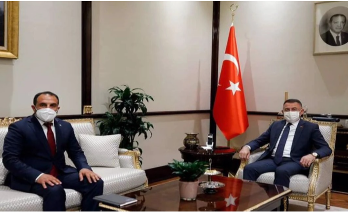 Oktay, AK Parti KKTC Temsilcisi Öztekin'i kabul etti