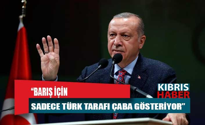 Erdoğan: Barış için sadece Türk tarafı çaba gösteriyor