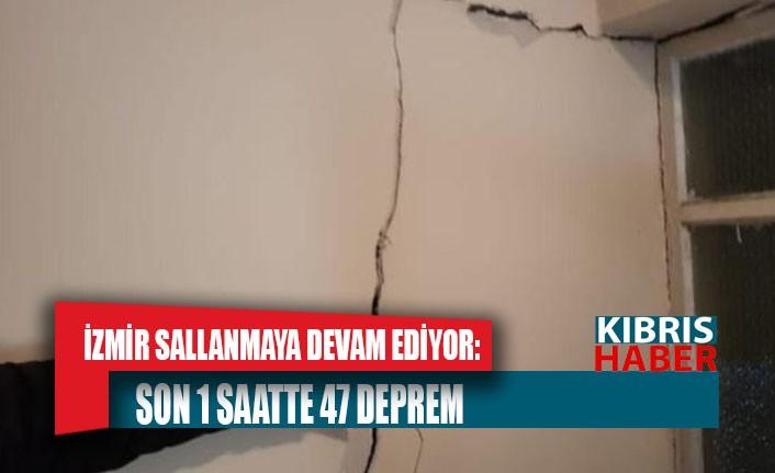 İzmir sallanmaya devam ediyor: Son 1 saatte 47 deprem
