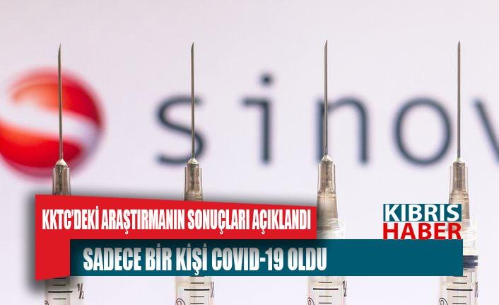 KKTC'de sinovac aşısı yaptıran 609 sağlık çalışanından sadece bir kişi Covid-19 oldu