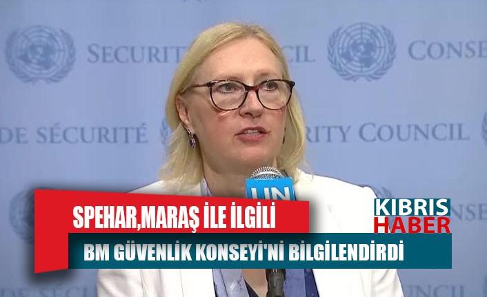 Spehar,  Maraş ile ilgili BM Güvenlik Konseyi'ni bilgilendirdi