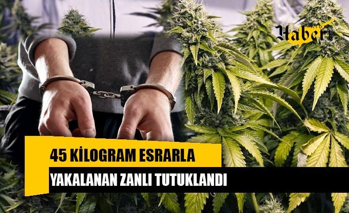45 kilogram esrarla yakalanan zanlı tutuklandı