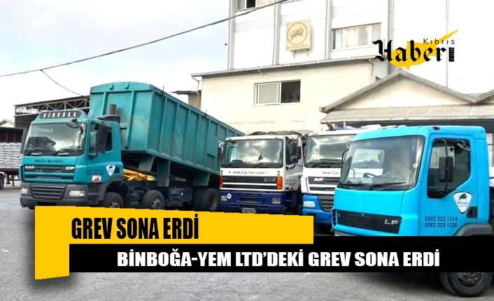 Binboğa-Yem Ltd'deki grev sona erdi
