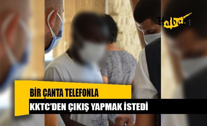 Bir çanta telefonla Ercan'da yakalandı!