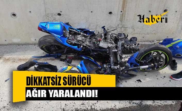Dikkatsiz sürücü ağır yaralandı!