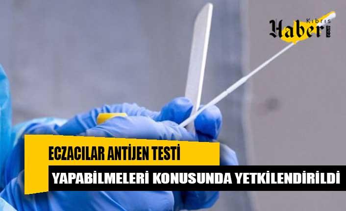 Eczacılar antijen testi yapabilmeleri konusunda yetkilendirildi