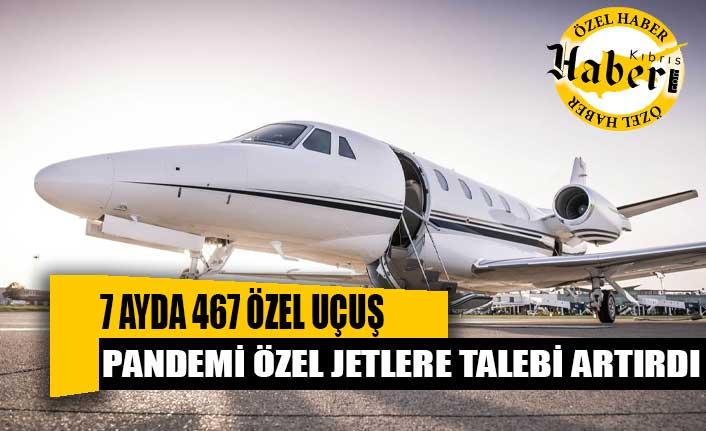 Ercan'a 7 ayda 467 özel uçuş