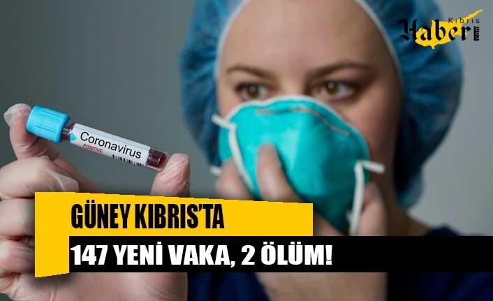 Güney Kıbrıs'ta 147 yeni vaka, 2 ölüm!