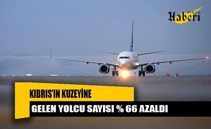 Kıbrıs'ın kuzeyine gelen yolcu sayısı % 66 azaldı