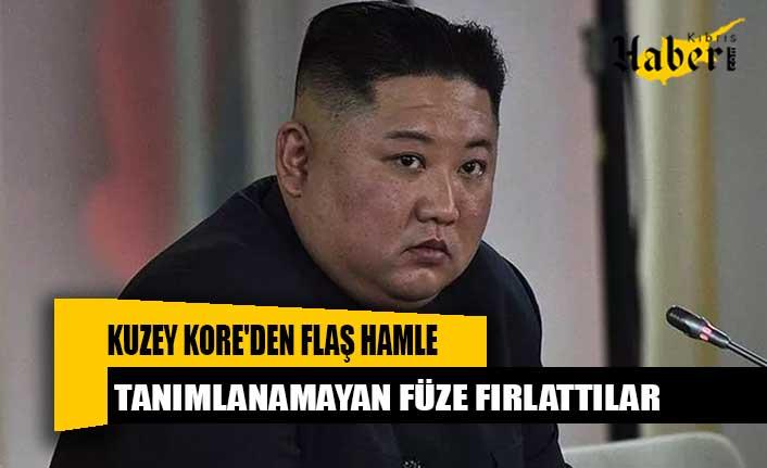 Kuzey Kore'den flaş hamle! Tanımlanamayan füze fırlattılar