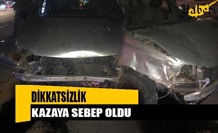 Lefkoşa'da dikkatsizlik kazaya sebep oldu
