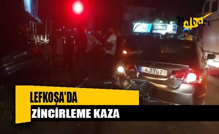 Lefkoşa'da zincirleme kaza