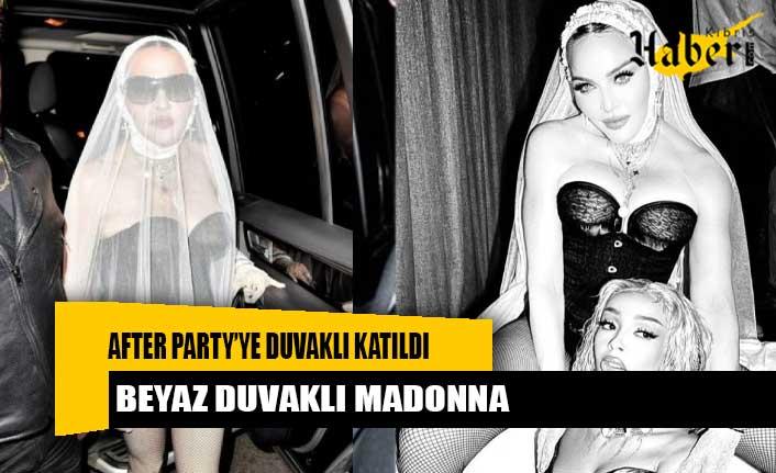 Madonna, MTV Video Müzik Ödülleri after party'ye duvaklı katıldı