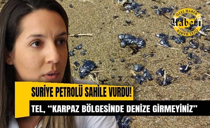 Feriha Tel'den vatandaşa petrol sızıntısı uyarısı