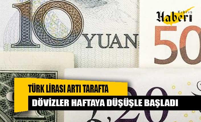 Türk Lirası artı tarafta, dövizler haftaya düşüşle başladı