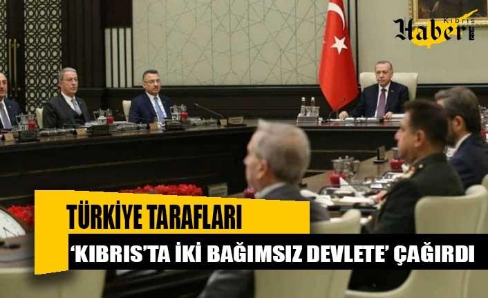 Türkiye tarafları 'Kıbrıs'ta iki bağımsız devlete' çağırdı