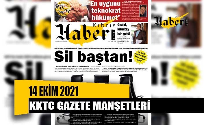 KKTC Gazete Manşetleri / 14 Ekim 2021