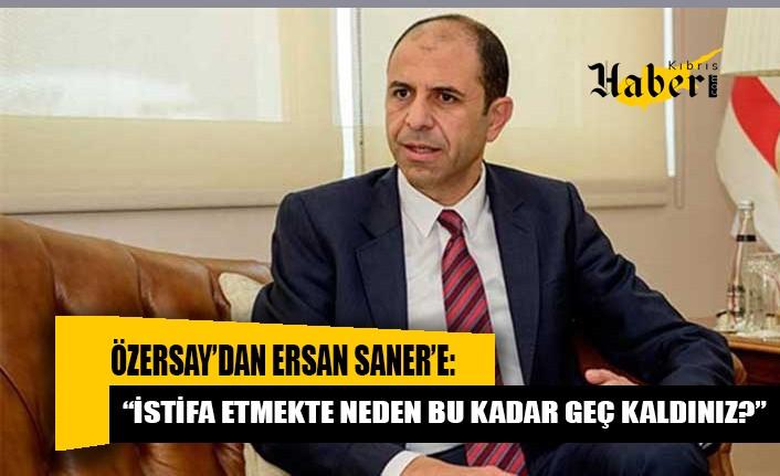 """Kudret Özersay'dan Ersan Saner'e: """"İstifa etmekte neden bu kadar geç kaldınız?"""""""