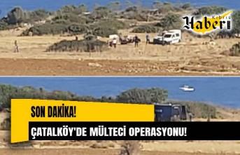 Çatalköy'de 20'ye yakın mülteci yakalandı