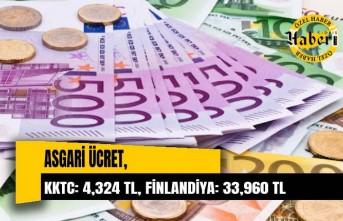 KKTC: 4,324 TL, Finlandiya: 33,960 TL