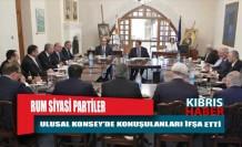 Rum Siyasi partiler, Ulusal Konsey'de konuşulanları ifşa etti…