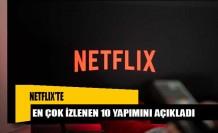 Netflix, en çok izlenen 10 yapımını açıkladı