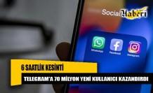 Facebook, Instagram ve WhatsApp 6 saatlik kesinti Telegram'a yaradı