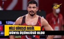 Taha Akgül dünya üçüncüsü oldu