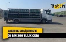 Adalıer Gaz Satış İşletmesi'ne 51 bin 390 TL'lik ceza